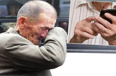 Starac otišao u servis mobitela. Kad su mu rekli da je ispravan, zaplakao je!